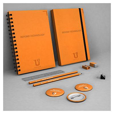 دانلود موکاپ سربرگ ، دفترچه فنری ، مداد و پیکسل با فرمت psd