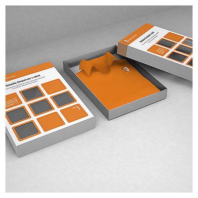 موکاپ (پیش نمایش) جعبه پیراهن با امکان نمایش طرح شما روی جعبه