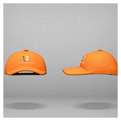 فایل پیش نمایش لوگو یا متن روی کلاه ورزشی با فرمت PSD لایه باز