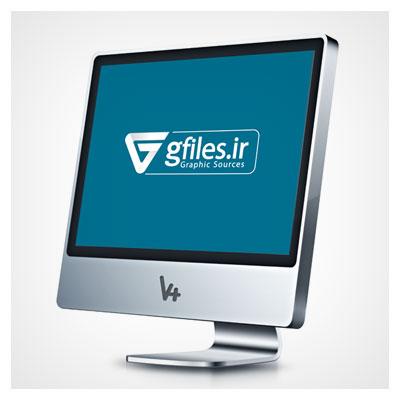 طرح لایه باز موکاپ مانیتور و صفحه نمایش سه بعدی (Monitor) با فرمت psd