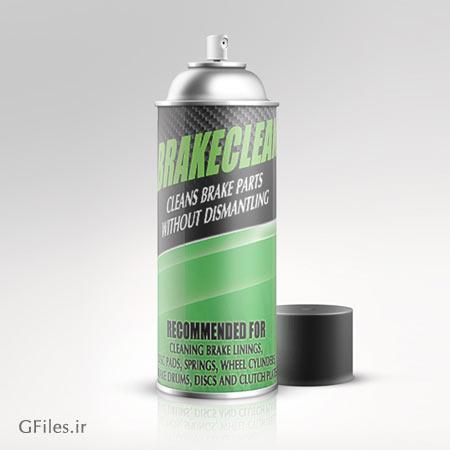 موکاپ قوطی اسپری (Spray Mockup) با امکان نمایش طرح شما روی بدنه آن
