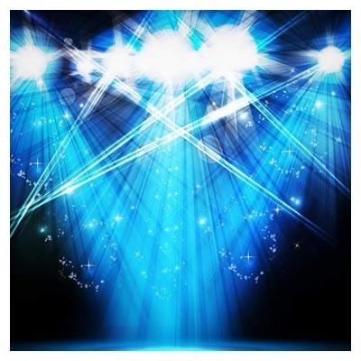 تصویر پس زمینه با افکت نورهای آبی به صورت فایل وکتور