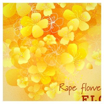 دریافت فایل وکتور پس زمینه با طرح گلهای زرد