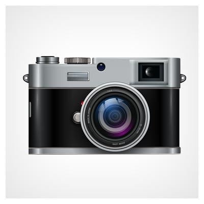 وکتور لایه باز دوربین عکاسی با دو فرمت eps و ai