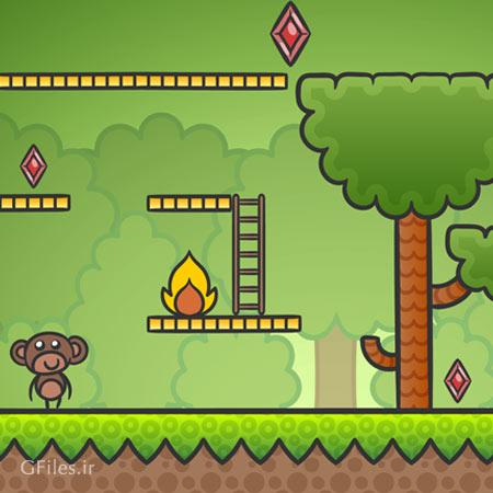 فایل لایه باز وکتور پس زمینه بازی (Game Vector Background)