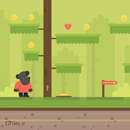 طرح وکتور لایه باز پس زمینه بازی (eps و ai) مناسب برای طراحان بازی