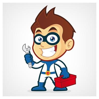 وکتور کارتونی (شخصیت کارتونی) پسرک تعمیرکار (eps و ai)