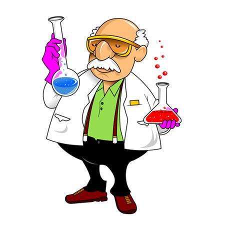 دانلود شخصیت کارتونی پیرمرد شیمیدان ، بصورت لایه باز (eps و ai)