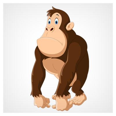 دانلود فایل eps و ai شخصیت کارتونی میمون و گوریل بصورت کاملا لایه باز
