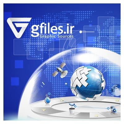 بنر لایه باز افقی (psd) و اسلایدر وبسایت با موضوع تجهیزات شبکه ، اینترنت و فناوری اطلاعات