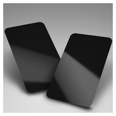 موکاپ لایه باز نمایش کارت ویزیت در چهار حالت مختلف (دورگرد ، گوشه تیز ، براق و ساده)