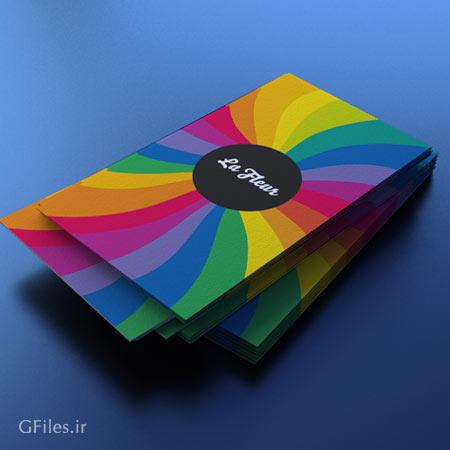 موکاپ مجموعه کارت ویزیت از نماهای مختلف بصورت لایه باز
