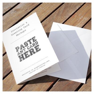 مجموعه 4 طرح متنوع از پیش نمایش (Mockup) کارت دعوت (PSD لایه باز(