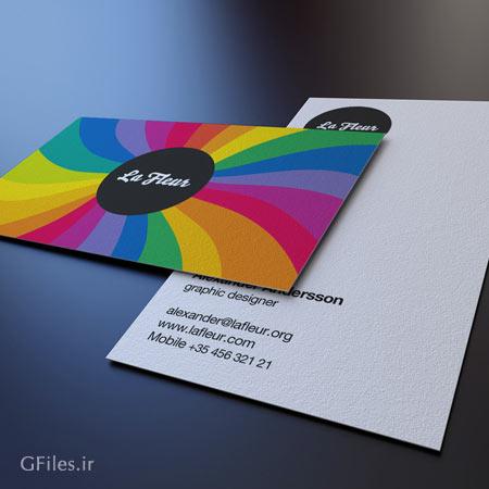 دانلود مجموعه سه حالت متنوع از پیش نمایش یا Mockup کارت ویزیت