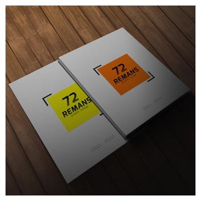دانلود Mockup مجموعه 4 حالت مختلف از پیش نمایش سربرگ یا پوستر بصورت سه بعدی