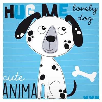 طرح پس زمینه کارتونی پس زمینه با طرح سگ عاشق (Lovely Dog)