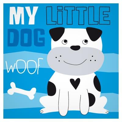 طرح کارتونی پس زمینه وکتور با دیزاین سگ (My Little Dog Woof)