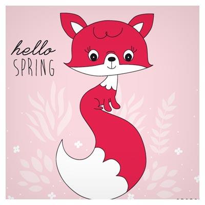 وکتور کارتونی روباه قرمز ، ارائه شده با دو فرمت eps و ai لایه باز