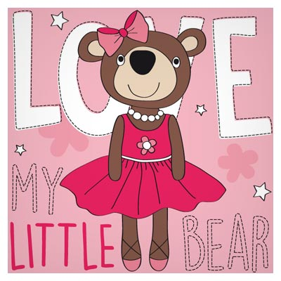 وکتور لایه باز بچه خرس قهوه ای (خانم خرسه) با فرمتهای eps و ai
