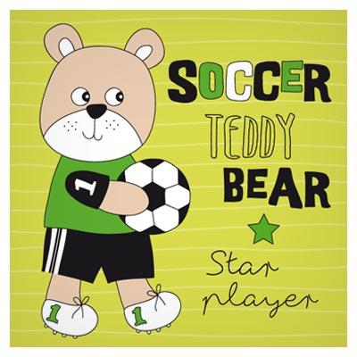 پس زمینه کارتونی خرس کوچولوی فوتبالیست (Soccer Teddy Bear)