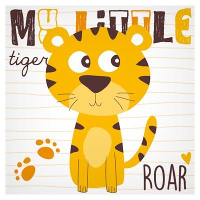 وکتور پس زمینه کارتونی ببر کوچولوی نارنجی (My Little Tiger)
