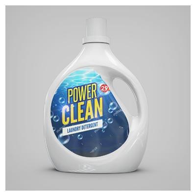 مجموعه موکاپ لایه باز بطری مواد شوینده با کیفیت بالا در 5 حالت