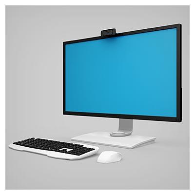 طرح لایه باز موکاپ مانیتور و صفحه نمایش در 4 زاویه مختلف
