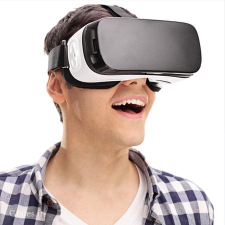 دانلود رایگان تصویر با کیفیت با موضوع مردی با عینک واقعیت مجازی