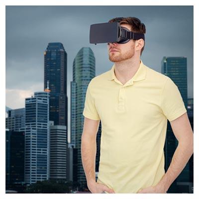 تصویر و عکس رایگان و با کیفیت با موضوع مرد نشسته روی صندلی با عینک واقعیت مجازی