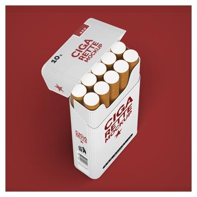 موکاپ لایه باز بسته بندی سیگار بصورت لایه باز (psd)