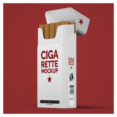 موکاپ نمایش متن یا لوگو روی بسته بندی سیگار در دو حالت مختلف