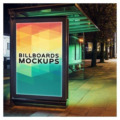 نمایش طرح بنر شما روی جایگاه اتوبوس (موکاپ لایه باز psd)