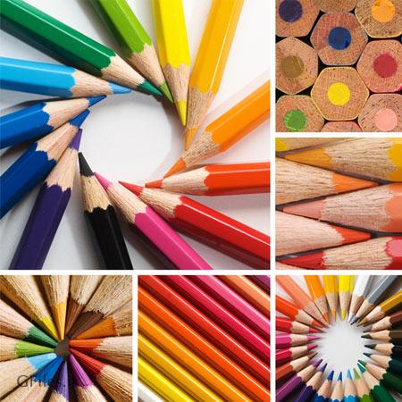 دانلود رایگان عکس با کیفیت مجموعه مدادهای رنگی در شکل های مختلف