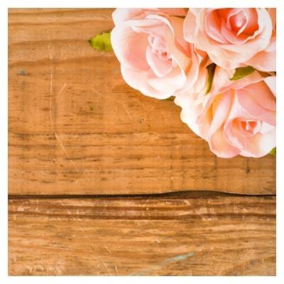 دانلود رایگان عکس با کیفیت استوک از گل های صورتی در زمینه چوبی
