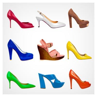 عکس کفش های زنانه زیبا و پاشنه بلند در رنگ های متنوع به صورت JPG