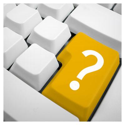 عکس دکمه اینتر کیبورد به رنگ زرد با نماد علامت سوال