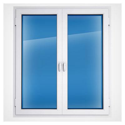 عکس یک پنجره مستطیلی آبی رنگ در حالت بسته به فرمت jpg