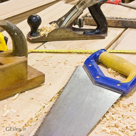 عکس وسایل و تجهیزات نجاری و چوب و اره بزرگ با پسوند jpg