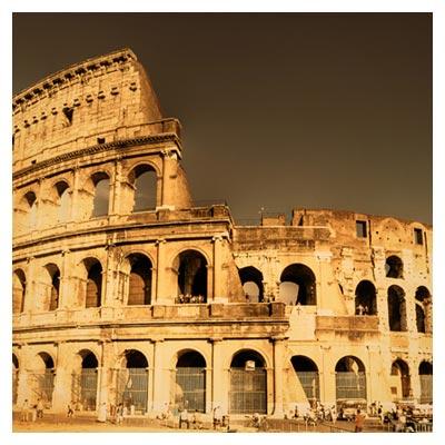 عکس با کیفیت از بنای تاریخی کلوسئوم ایتالیا (رم)