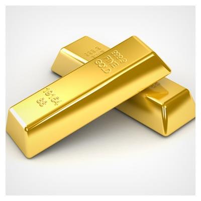 شمش های طلای بزرگ و با ارزش بر روی زمینه سفید رنگ