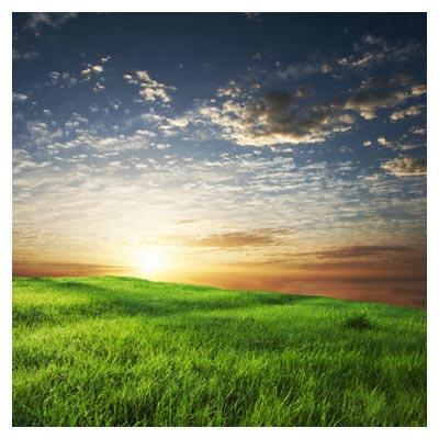 عکس نور خورشید تابیده شده بر روی منظره طبیعت بکر