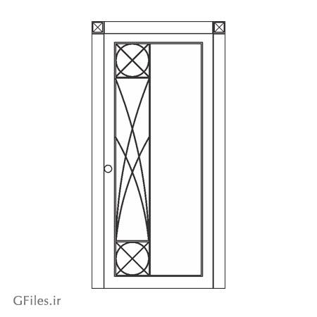 فایل dxf و cdr مناسب برای برش کاری روی درب چوبی یا فلزی