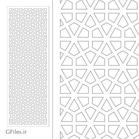طرح آماده مشبک اسلامی مناسب برای حک و برش لیزری و سی ان سی