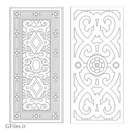 دانلود طرح آماده برای حکاکی و برش لیزر روی درب در دو حالت مختلف
