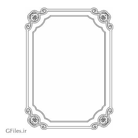 طرح لایه باز (دو فرمت dxf و cdr) از قاب و فریم مناسب برای برش لیزر و سی ان سی