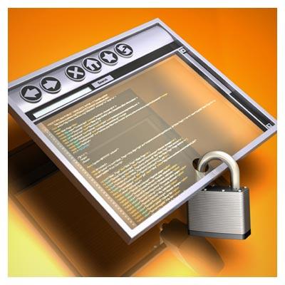 عکس یک قفل نصب شده بر پایین یک پیج اینترنتی با فرمت JPG