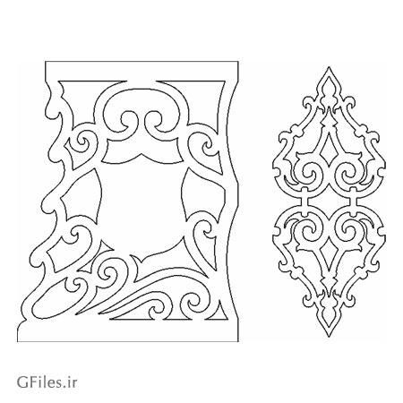 طرح های المانی تزئینی مناسب برای پایه میز و یا حکاکی روی چوب یا فلز