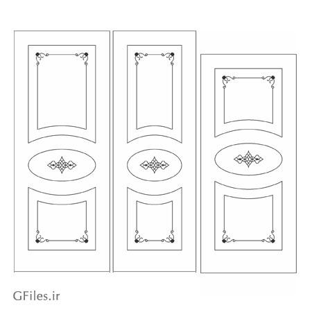 طرح لایه باز مناسب برای حک یا برش روی درب چوبی یا فلزی