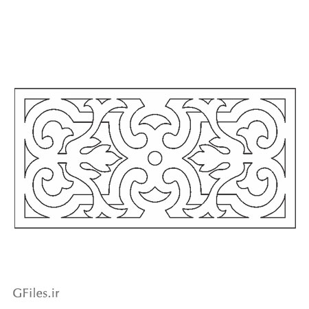 دانلود طرح تزئینی مستطیلی مناسب برای برش یا لیزر درب یا حکاکی روی چوب و فلز