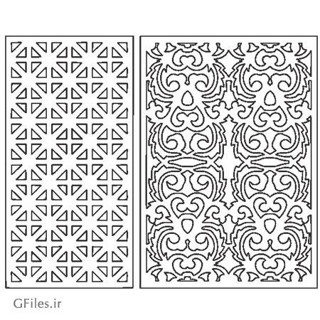 دانلود دو طرح مشبک مناسب برای لیزر و سی ان سی